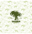 Seamless pattern with the image of olives vector image vector image