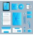 set corporate identity template modern vector image