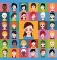 set different avatars vector image