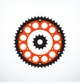 set of motorcycle sprockets vector image vector image