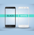 smartphone black and white vector image vector image