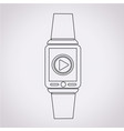 smartwatch wearable icon vector image