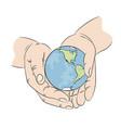 take care nature earth ecology problem illu vector image