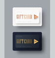 template of classical strict gift cards with vector image vector image