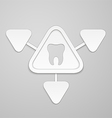 Tooth in and around triangle vector image