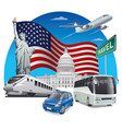 travel in usa vector image vector image