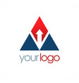 triangle arrow company logo vector image vector image