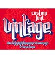 Vintage custom Font vector image vector image