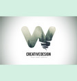 w letter brush with forest fog texture forest vector image vector image
