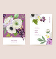 wedding black currant floral card berry vector image