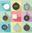 wireless charger icons set flat style vector image vector image
