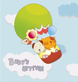 Babys arrival announcement card vector image