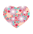 Floral heart with flowers vector image