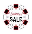 Summer sale text on bag design vector image