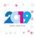 2019 happy new year design