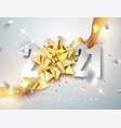 2021 happy new year elegant greeting card vector image vector image