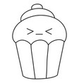 a children coloring bookpage kawaii cupcake vector image
