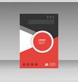 abstract brochure design template flyer design vector image