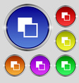 Active color toolbar icon sign Round symbol on vector image vector image
