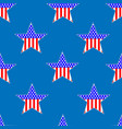 american patriotic stars seamless pattern vector image vector image
