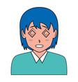 Anime girl manga portrait character
