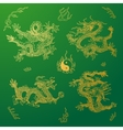 background with asia dragons Hand drawn vector image vector image