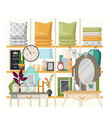 bedroom or living room interior view vector image