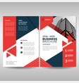 business brochure cover layout template with red vector image vector image