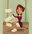 careless inattentive business woman office worker vector image