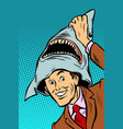 carnival shark costume vector image vector image