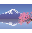 cherry blossom branch vector image