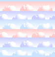 cloud seamless pattern natural air with fluffy vector image