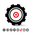 Cogs - Gears Icons Set vector image vector image