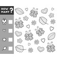 counting game for preschool children count how vector image vector image