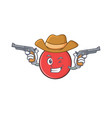 cowboy bowling ball character cartoon vector image vector image