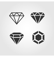 Diamond icons set flat design vector image