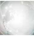 Dotted world globe light design vector image vector image