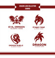 dragon logo collection vector image vector image