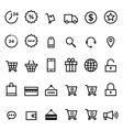 E-commerce outline icon set vector image vector image