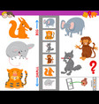 educational activity with large and small animals vector image vector image