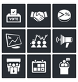 Election Icons collection vector image