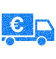euro shipment grunge icon vector image vector image