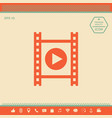 film strip with play vector image vector image