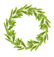 flat olive wreath isolated on vector image vector image
