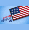 fourth july american independence day vector image