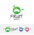 fruit ninja logo design vector image