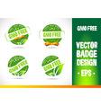 Gmo free Badge Logo vector image vector image