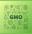 gmo square concept minimal outline vector image vector image