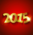 Golden 2015 New Year vector image vector image