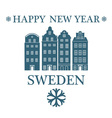 Greeting Card Sweden vector image vector image